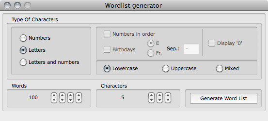 Cryptix wordlist generator